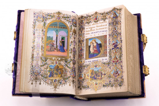 Book of Hours of Lorenzo de' Medici, Florence Italy, Biblioteca Medicea Laurenziana, Ms. Ashburnham 1874 − Photo 1
