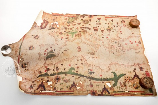 Sea Map of Iehuda Ben Zara, Vatican City, Biblioteca Apostolica Vaticana, Borg. VII − Photo 1