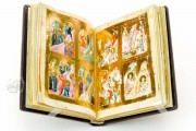 Oxford Menologion, Ms. Gr. th. f. 1 - Bodleian Library (Oxford, United Kingdom), A fully illuminated opening of the Byzantine Menologium of Oxford