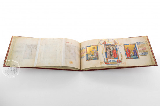 Golden Bible - Biblia Pauperum, London, British Library, Kings MS 5 − Photo 1