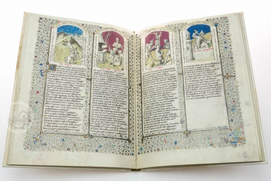 Speculum Humanae Salvationis, Cod. 206 - Stiftsbibliothek des Klosters Einsiedeln (Switzerland) − photo 1