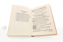 Nicandri Colophoni. Theriaca Facsimile Edition