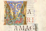 The Passau Evangelary, Munich, Bayerische Staatsbibliothek, Clm 16002, Passau Evangelary - Historiated initial at f. 21r